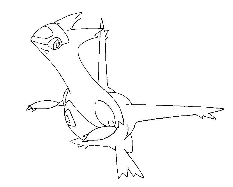 latias coloring pages - photo#2