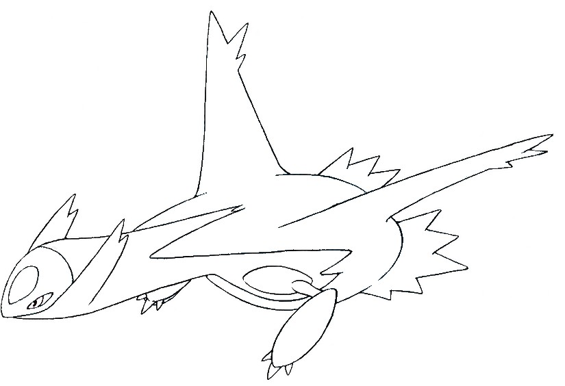 Coloring Pages Pokemon Latios Drawings Pokemon