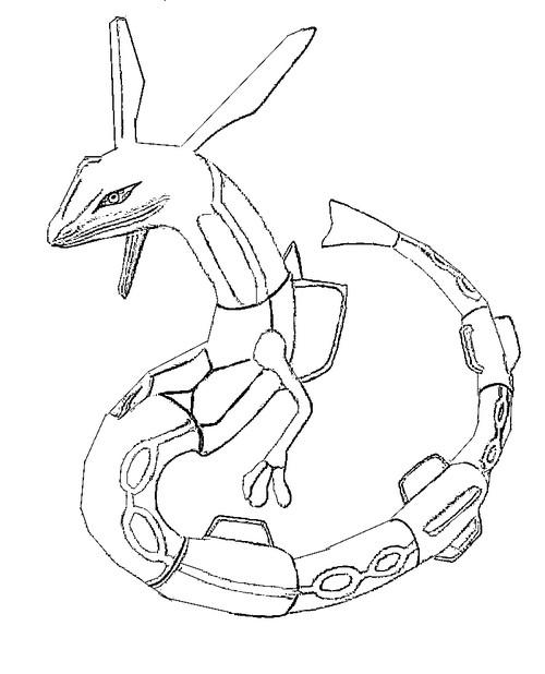 pokemon ausmalbilder rayquaza  vorlagen zum ausmalen