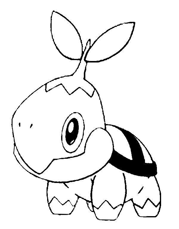 Coloring Pages Pokemon - Turtwig - Drawings Pokemon
