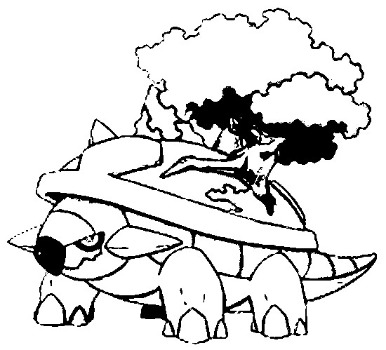 Coloring Pages Pokemon - Torterra - Drawings Pokemon