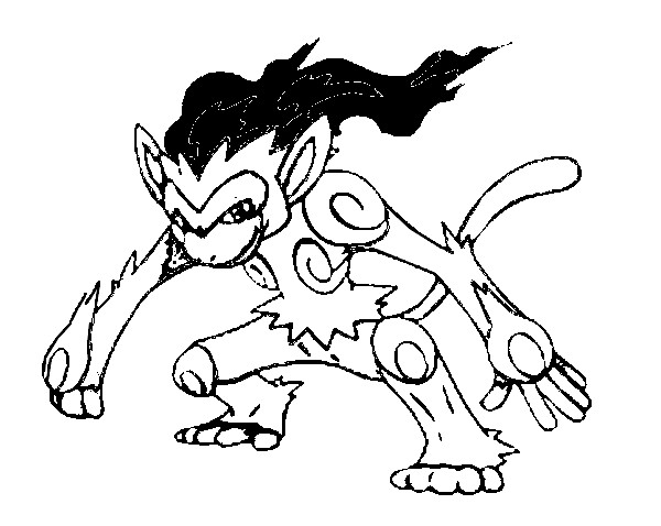 Coloring Pages Pokemon Infernape Drawings Pokemon Infernape Coloring Pages