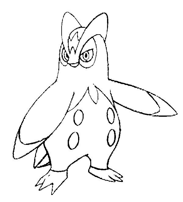 Dibujos para colorear Pokemon - Prinplup - Dibujos Pokemon