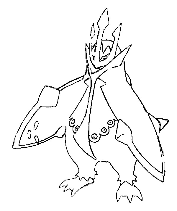 pokemon empoleon coloring pages - photo#2