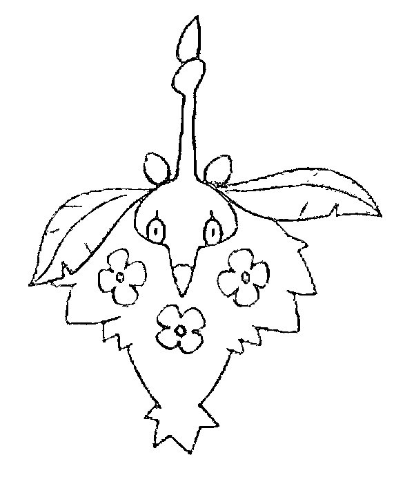 Coloring Pages Pokemon - Wormadam - Drawings Pokemon