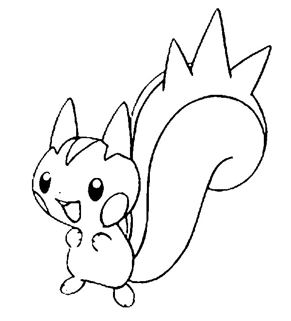 Coloring Pages Pokemon Pachirisu Drawings Pokemon