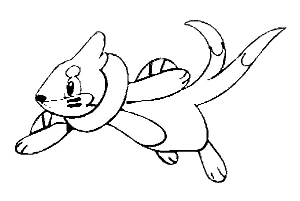 buizel coloring pages | Coloring Pages Pokemon - Buizel - Drawings Pokemon