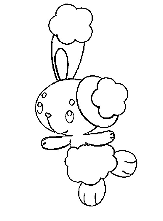 pokemon buneary coloring page - coloring pages pokemon buneary drawings pokemon