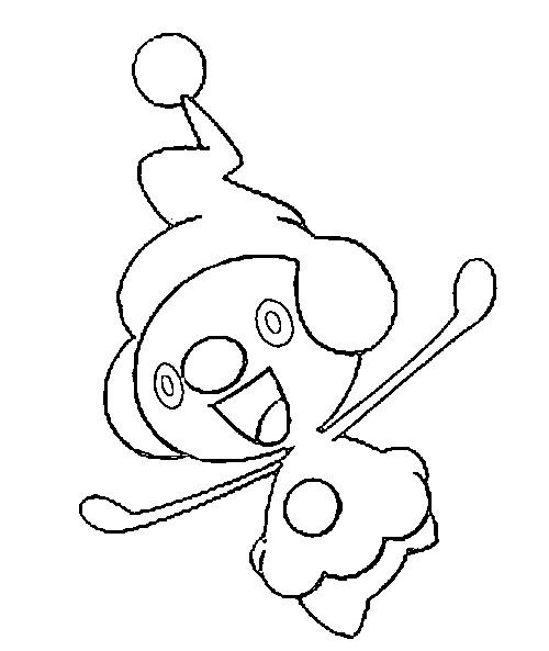 Mime Jr Coloring Pages