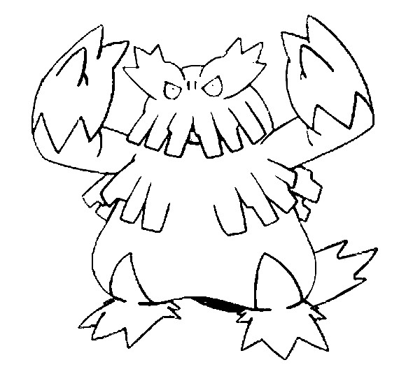 Coloring Pages Pokemon Abomasnow Drawings Pokemon