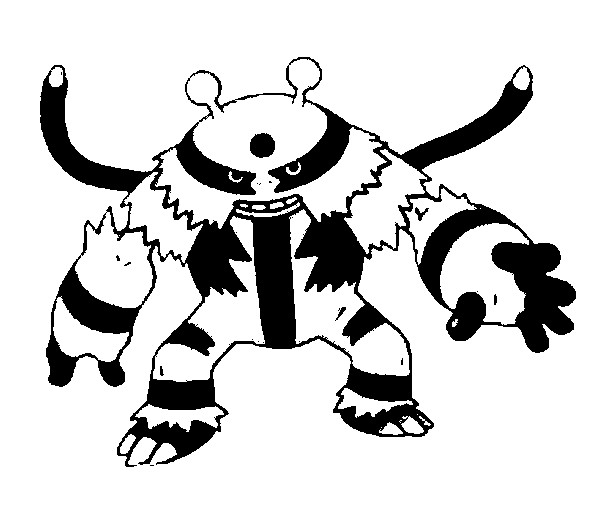 Coloring Pages Pokemon Electivire Drawings Pokemon