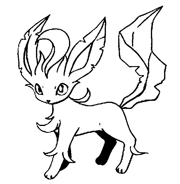 eevee evolutions coloring pages leafeon - photo#5