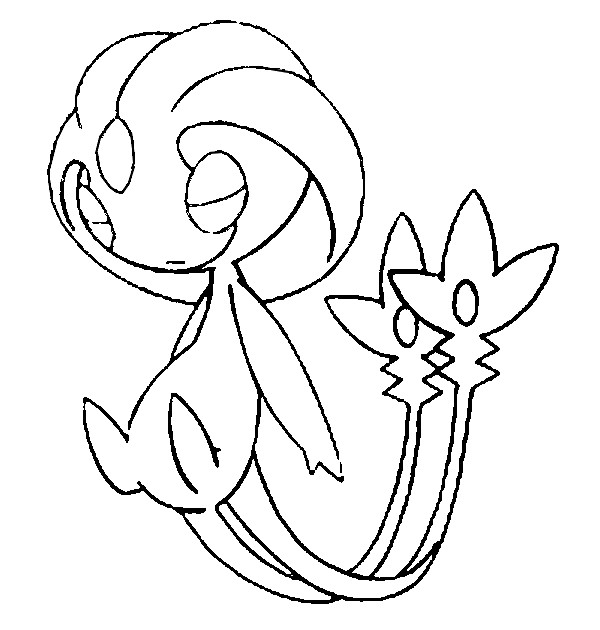 Uxie Coloring Page