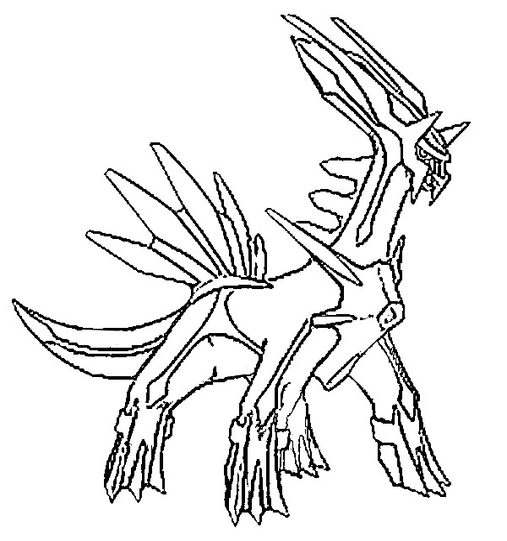 Coloring Pages Pokemon Dialga Drawings Pokemon