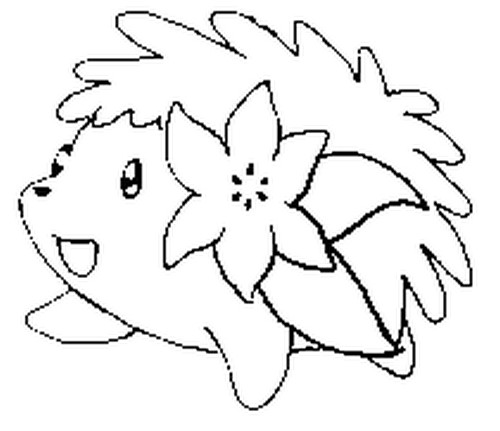 Shaymin Pokemon Coloring Pages