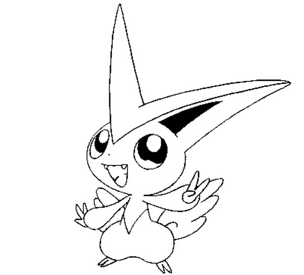 Coloring Pages Pokemon Victini Drawings