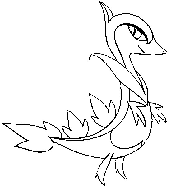 pokemon coloring pages servine pictures - photo#4