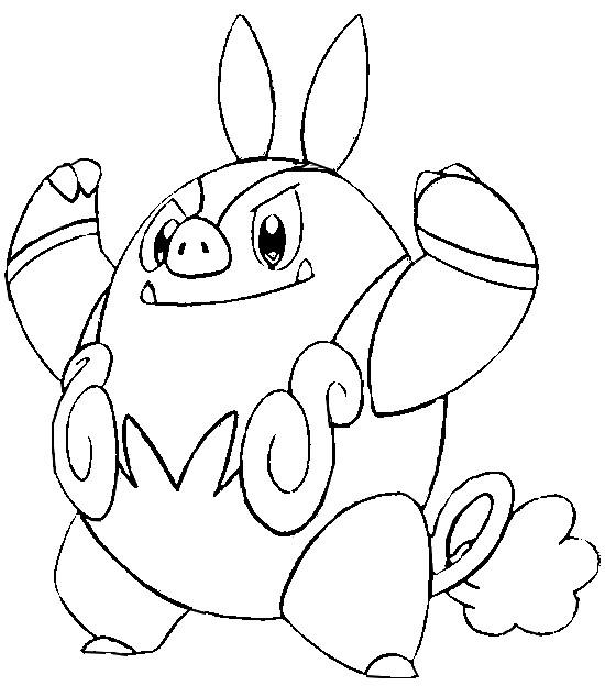 Disegni Da Colorare Pokemon Pignite Disegni Pokemon