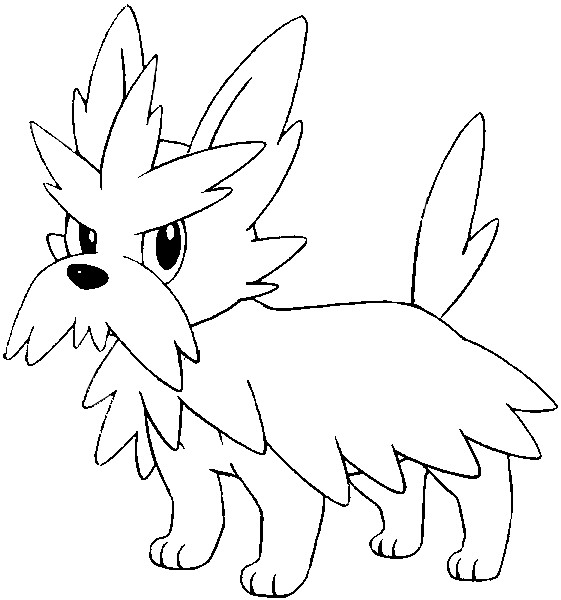 Herdier Pokemon Coloring Pages Herdier