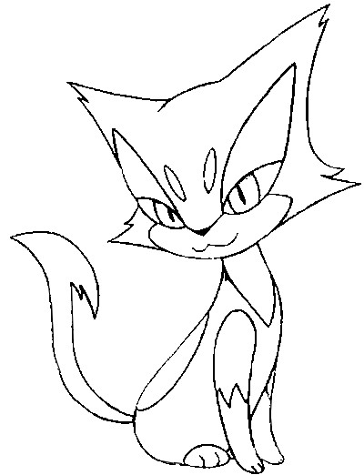Liepard Coloring Page
