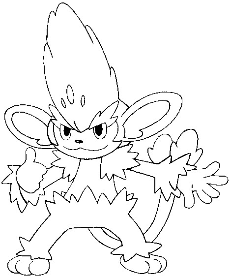 Pokemon Simisage Coloring Pages