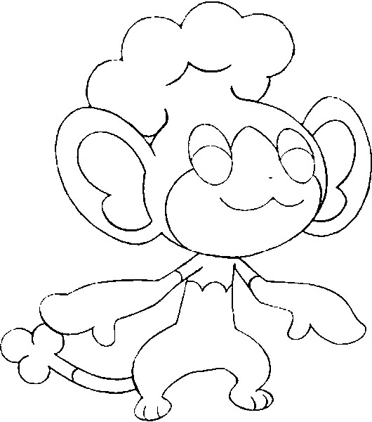 pokemon pansage coloring pages - photo #14