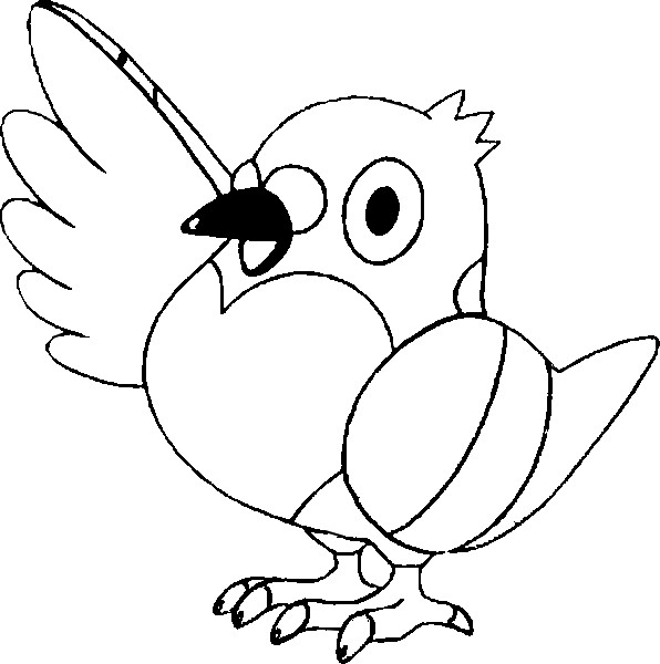 Coloring Pages Pokemon Pidove Drawings Pokemon