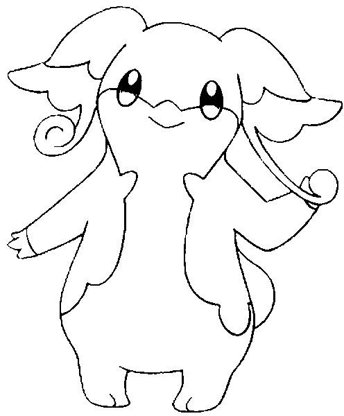 Dibujos para colorear Pokemon - Audino - Dibujos Pokemon