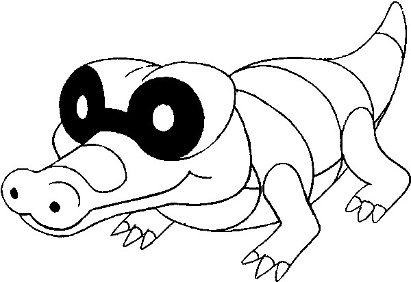 crocodile pokemon coloring pages - photo#8