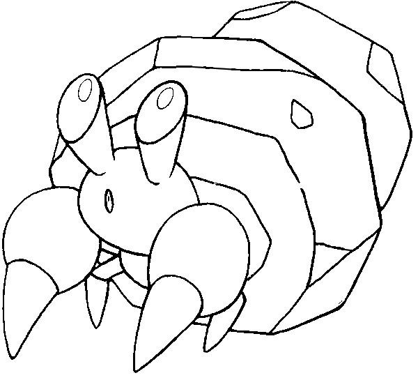 Coloring Pages Pokemon Dwebble Drawings Pokemon