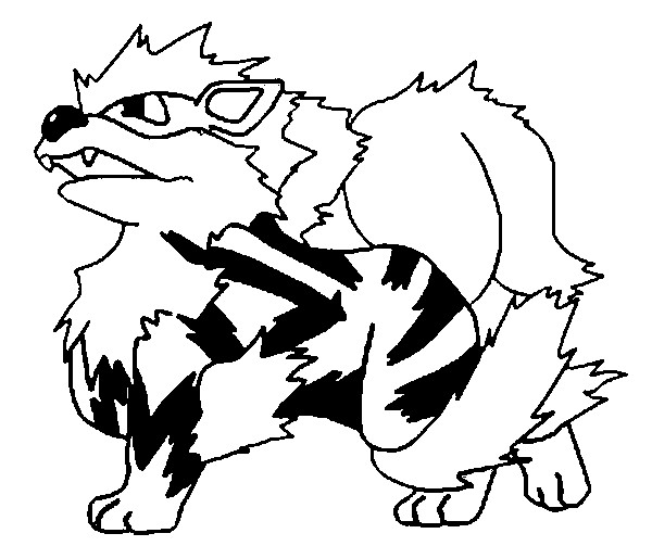 arcanine coloring pages - photo#17