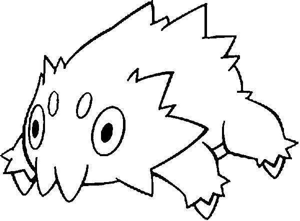 coloring pages joltik drawings