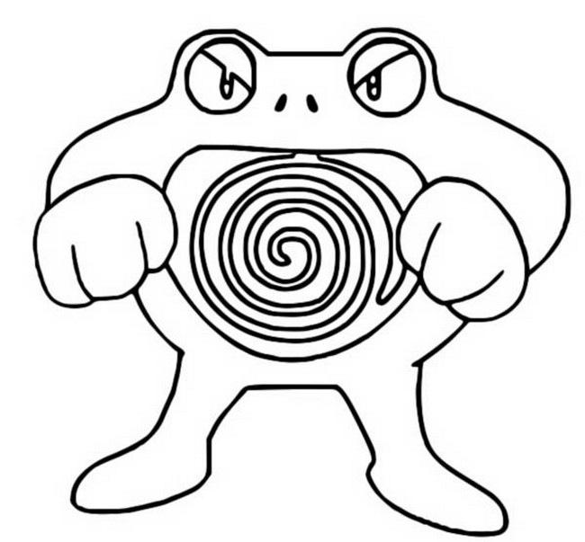 pokemon poliwag coloring pages - photo#26
