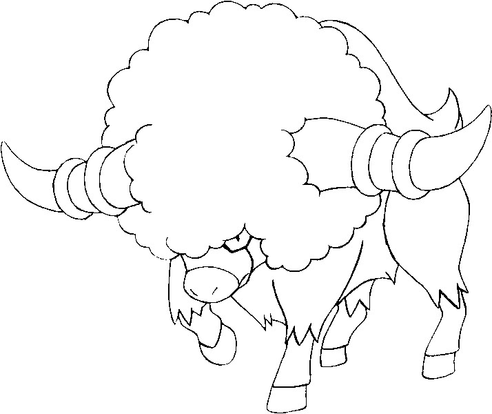 Coloring Pages Pokemon - Bouffalant - Drawings Pokemon
