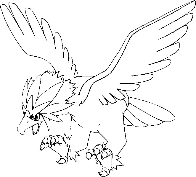 Pokemon Coloring Pages Braviary. Braviary Coloring Pages Pokemon  Drawings