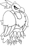 Pokemon Coloring Pages Braviary. Mandibuzz Coloring Pages Pokemon Drawing 621 640