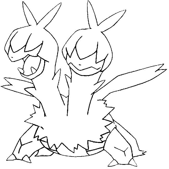 Coloring Pages Pokemon Zweilous