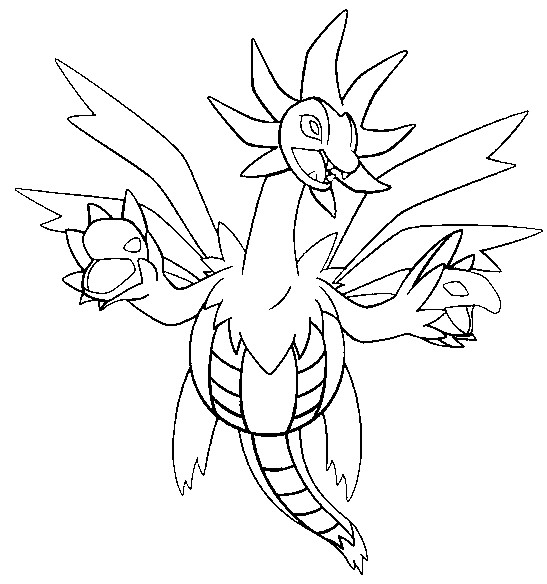 Coloring Pages Pokemon - Hydreigon - Drawings Pokemon