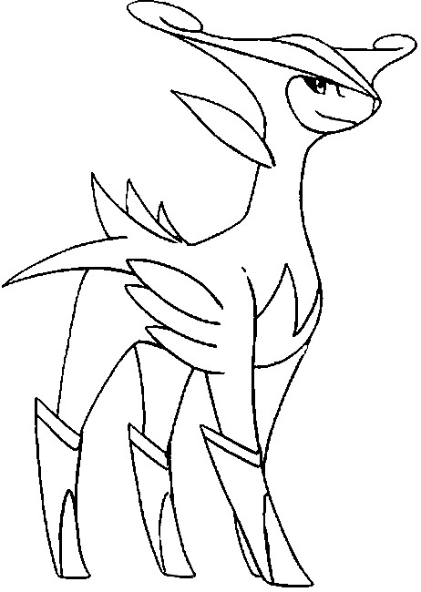 Coloring Pages Pokemon Virizion