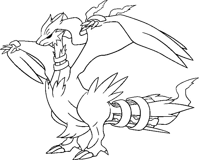 coloring pages pokemon reshiram drawings