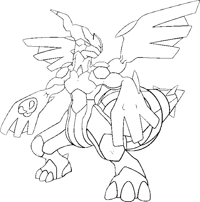 coloring pages pokemon zekrom x - photo#3