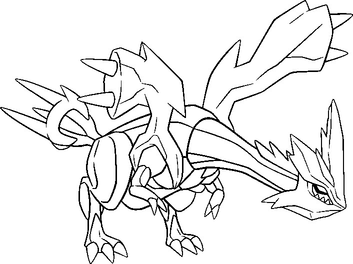 coloring pages pokemon zekrom x - photo#18