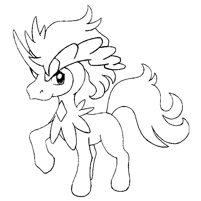 pokemon keldeo coloring pages - photo#6