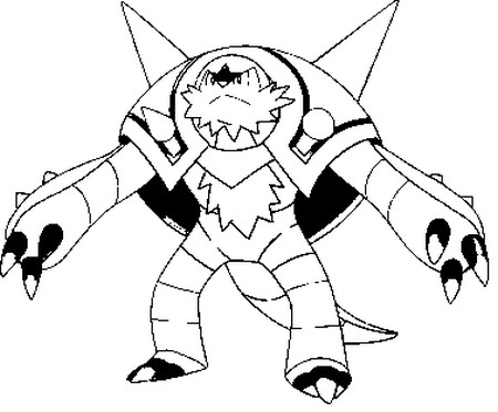 Coloring Pages Pokemon Chesnaught Drawings Pokemon