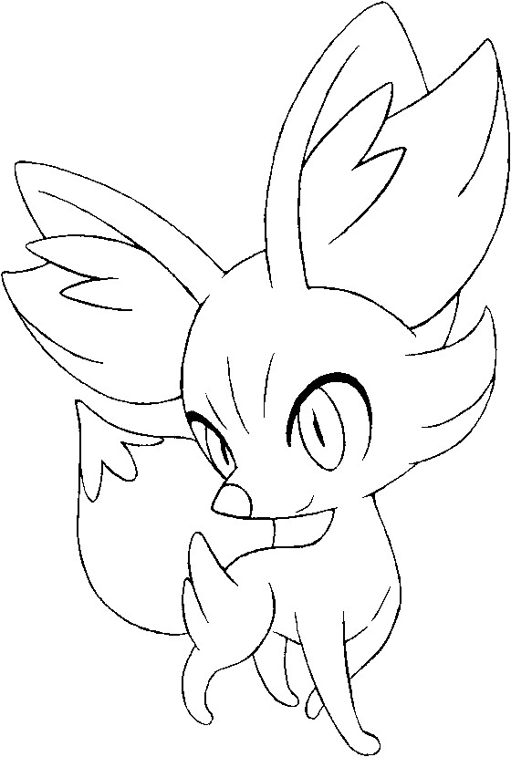 Coloring Pages Pokemon - Fennekin - Drawings Pokemon