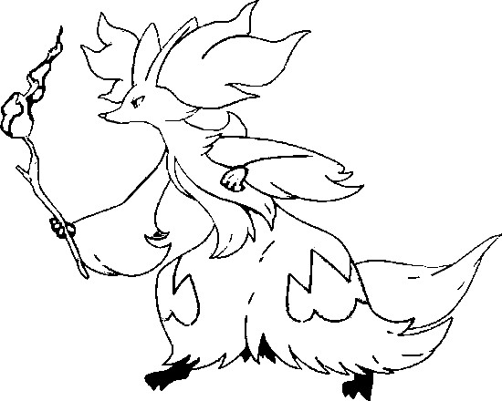 Coloring Pages Pokemon Delphox Drawings