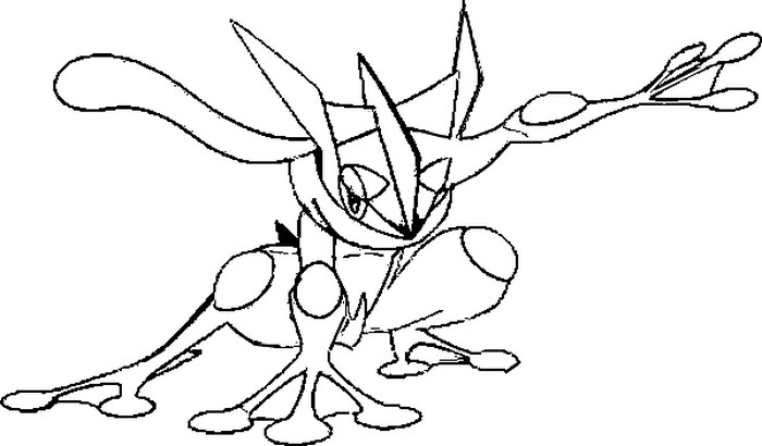 pokemon greninja coloring pages - photo#2