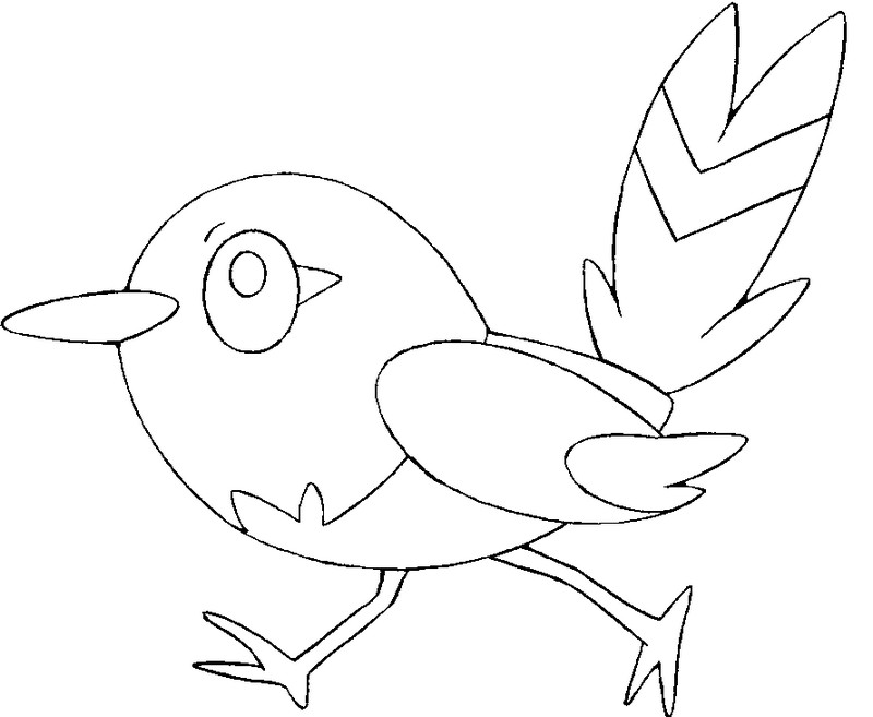 Coloring Pages Pokemon - Fletchling - Drawings Pokemon
