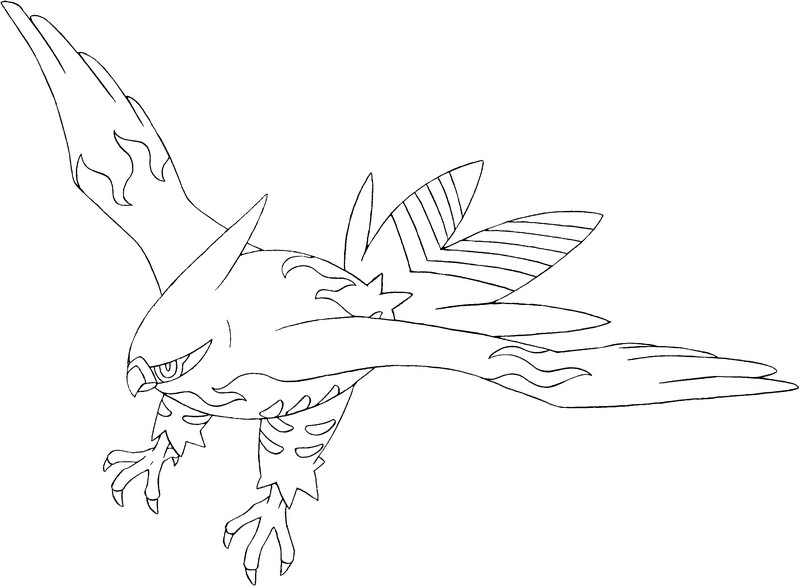 Image Result For Talonflame Coloring Page