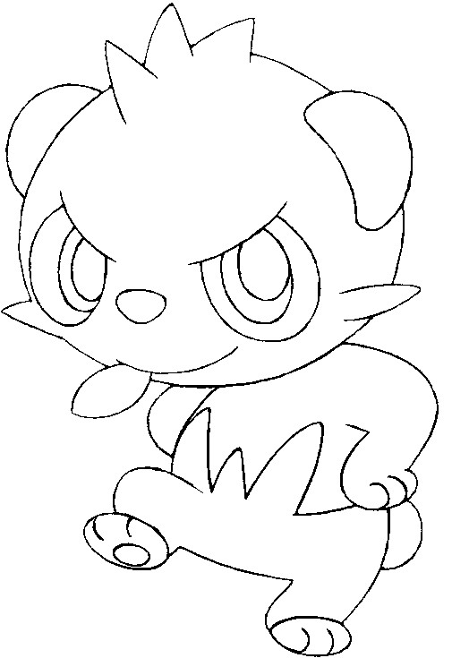 Coloring Pages Pokemon Pancham Drawings Pokemon